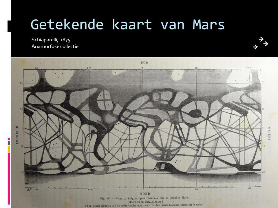 Getekende kaart van Mars