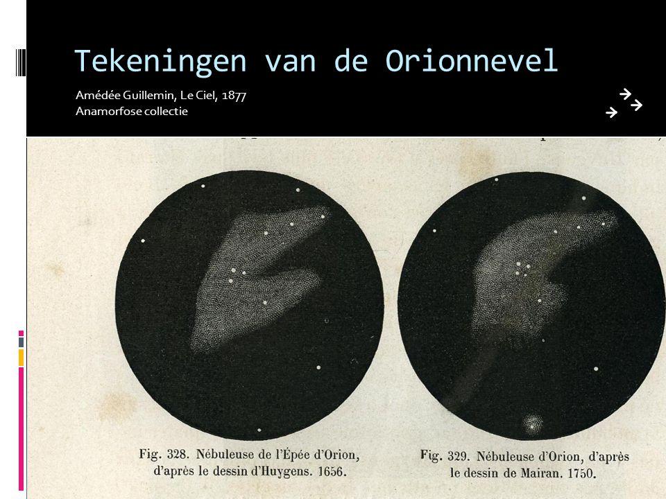 Tekeningen van de Orionnevel