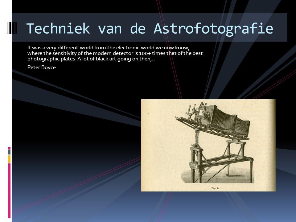 Techniek van de Astrofotografie