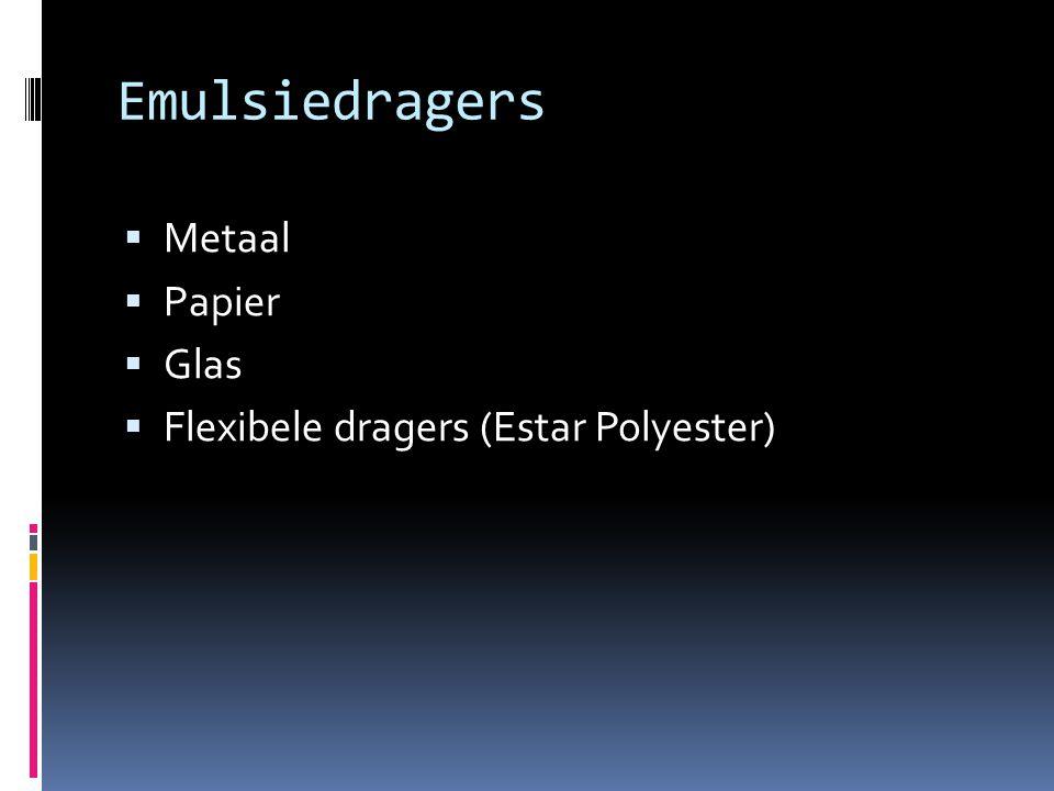 Emulsiedragers Metaal Papier Glas Flexibele dragers (Estar Polyester)