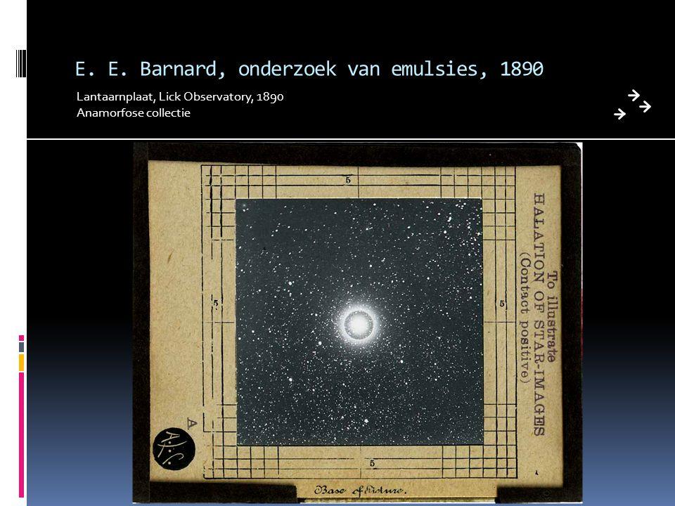 E. E. Barnard, onderzoek van emulsies, 1890