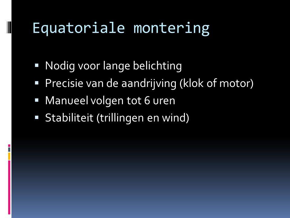 Equatoriale montering