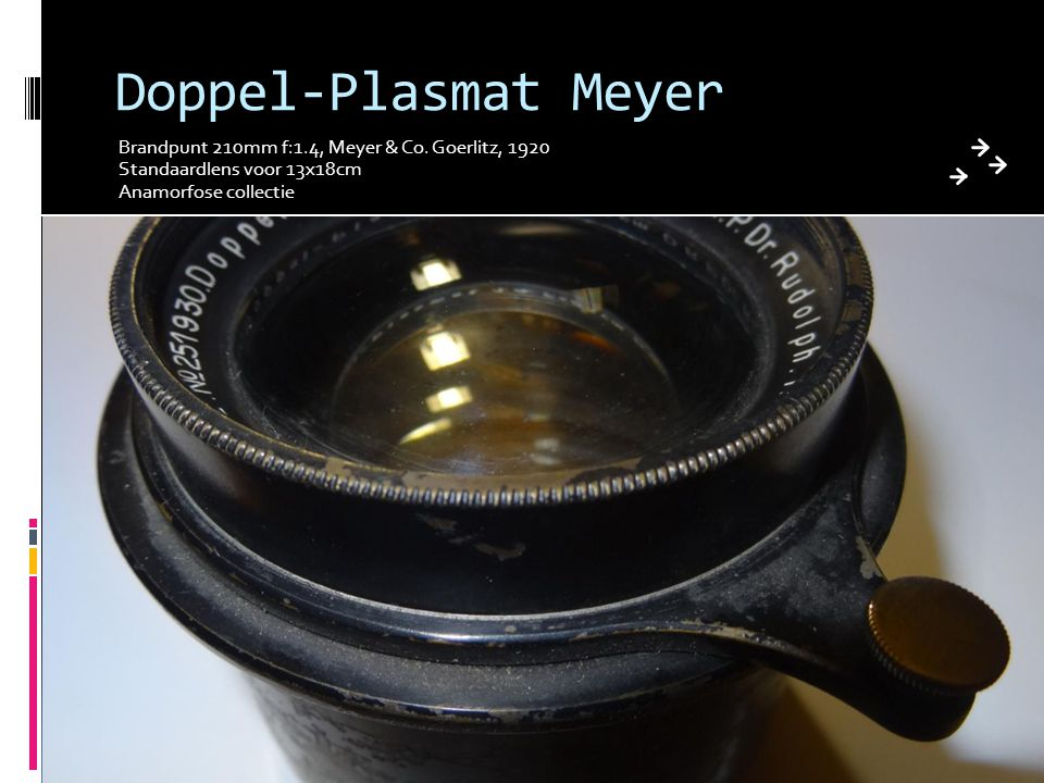 Doppel-Plasmat Meyer Brandpunt 210mm f:1.4, Meyer & Co. Goerlitz, 1920