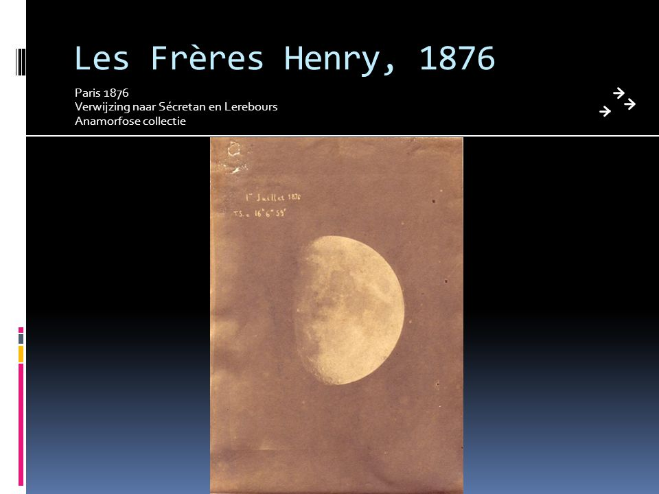 Les Frères Henry, 1876 Paris 1876 Verwijzing naar Sécretan en Lerebours Anamorfose collectie