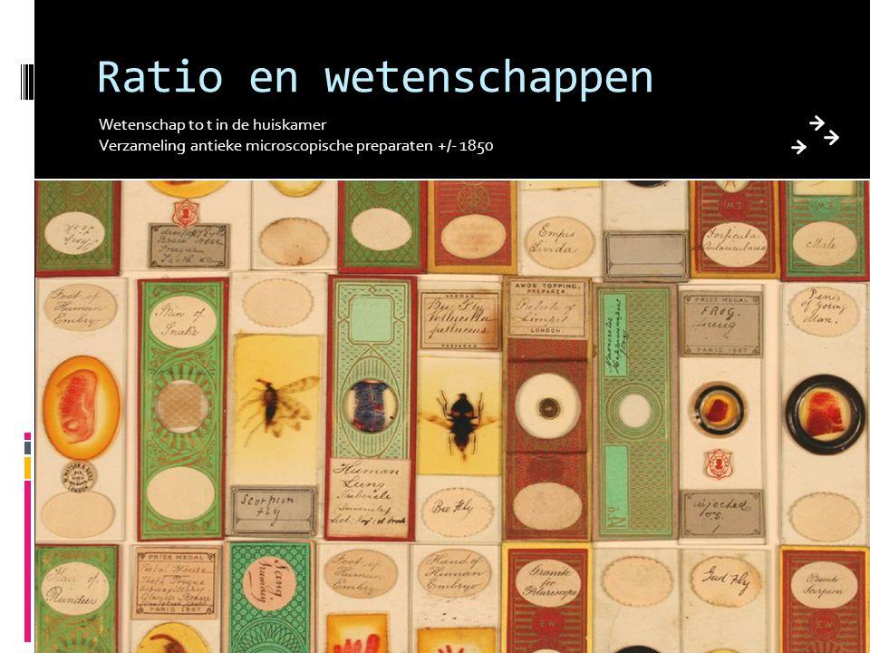 Ratio en wetenschappen