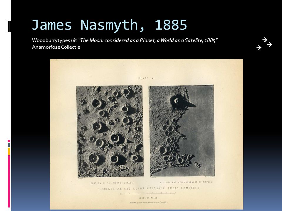 James Nasmyth, 1885 Woodburrytypes uit The Moon: considered as a Planet, a World an a Satelite, 1885