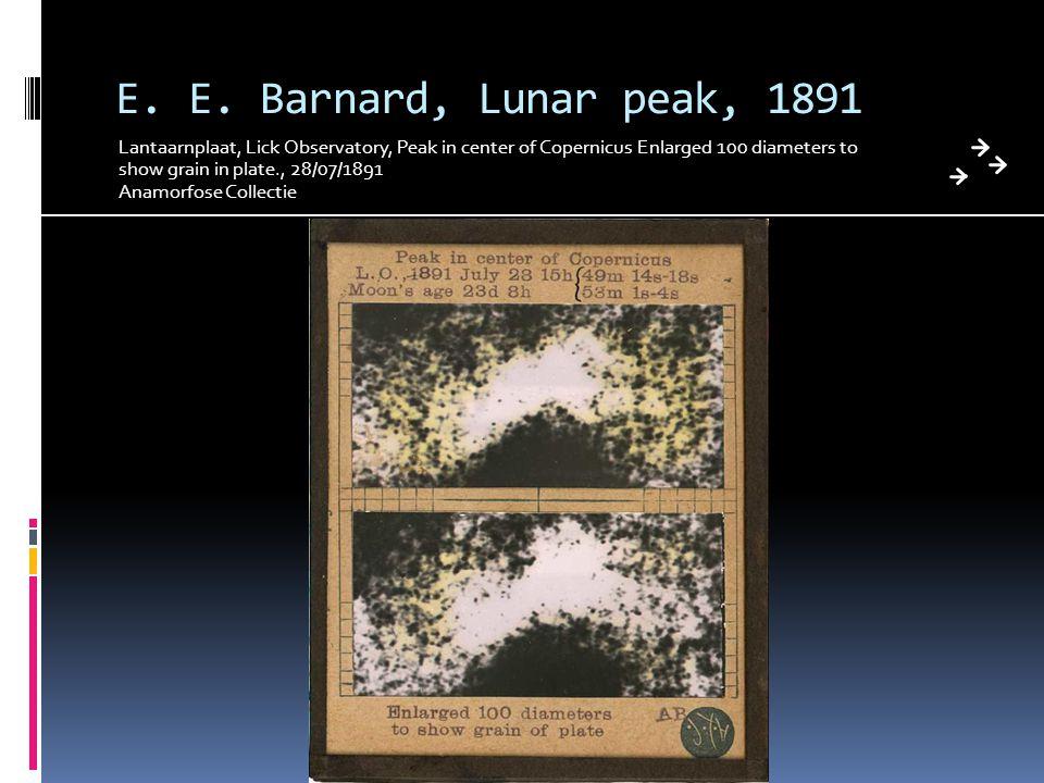 E. E. Barnard, Lunar peak, 1891