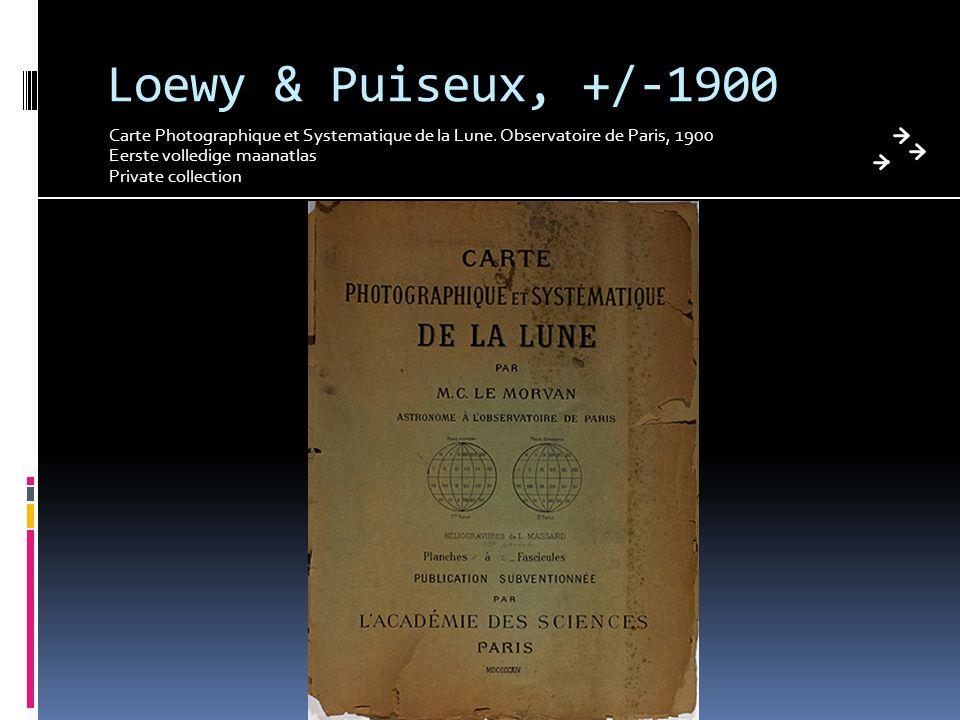 Loewy & Puiseux, +/-1900 Carte Photographique et Systematique de la Lune. Observatoire de Paris, 1900.