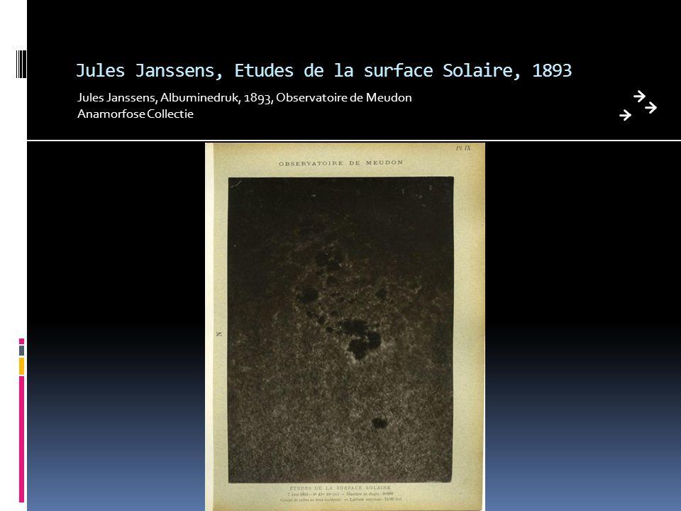 Jules Janssens, Etudes de la surface Solaire, 1893