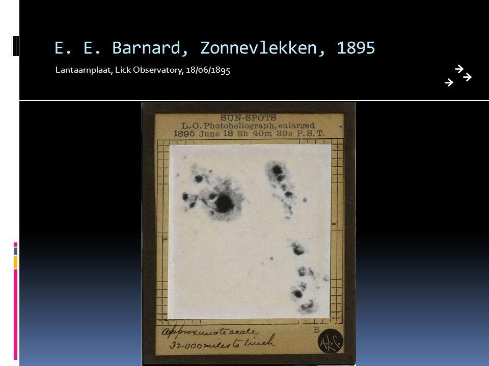 E. E. Barnard, Zonnevlekken, 1895
