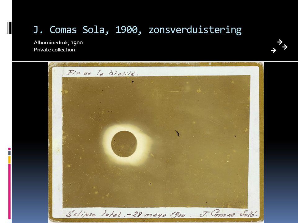 J. Comas Sola, 1900, zonsverduistering