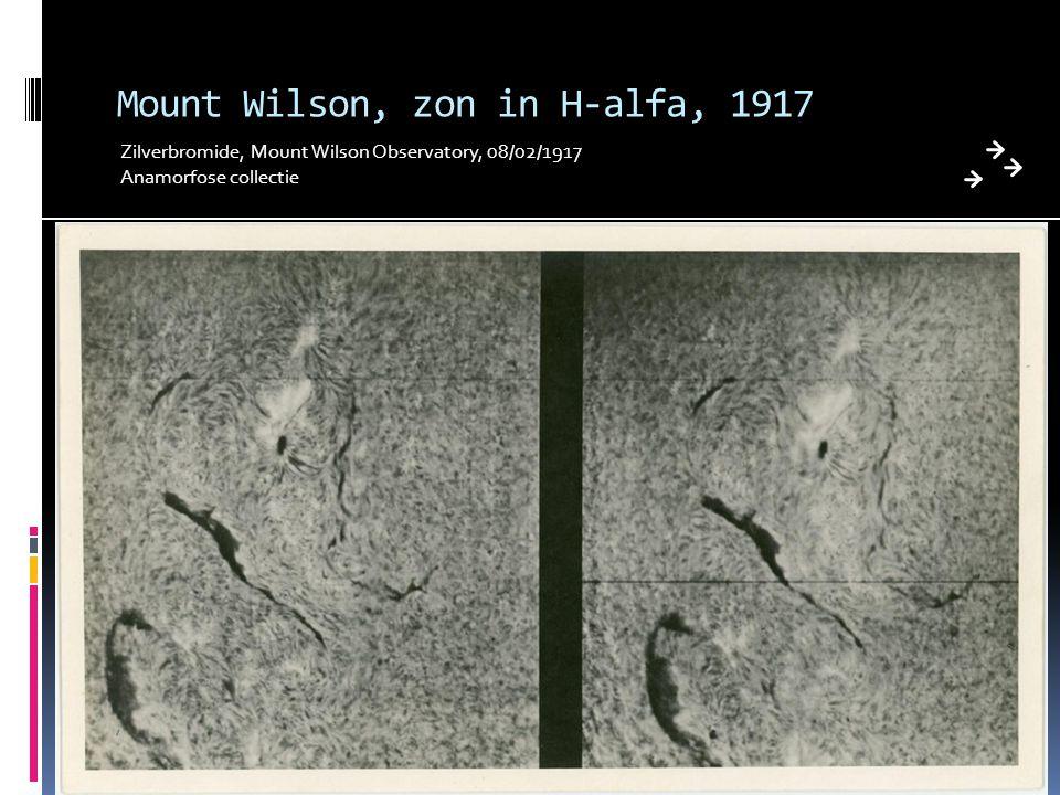 Mount Wilson, zon in H-alfa, 1917