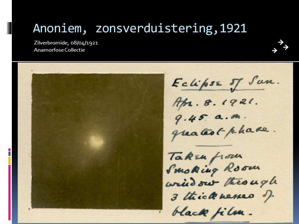 Anoniem, zonsverduistering,1921