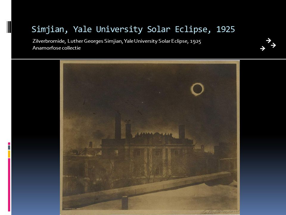 Simjian, Yale University Solar Eclipse, 1925