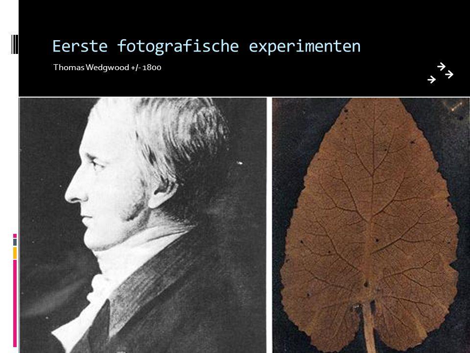 Eerste fotografische experimenten