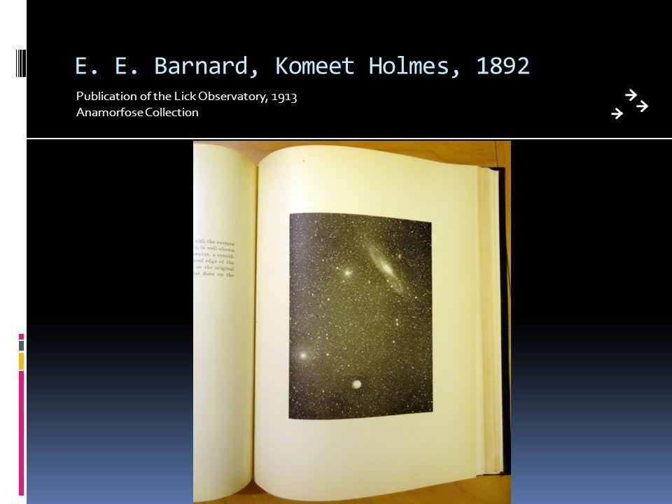 E. E. Barnard, Komeet Holmes, 1892