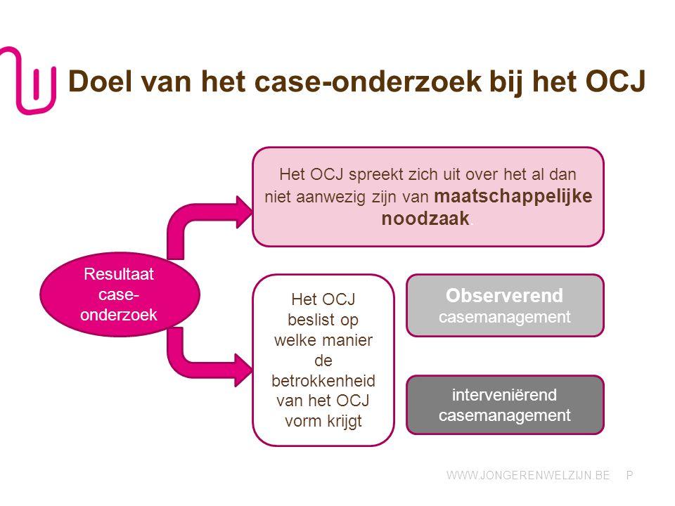 Doel van het case-onderzoek bij het OCJ
