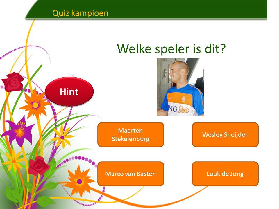 Welke speler is dit Hint Quiz kampioen Maarten Stekelenburg