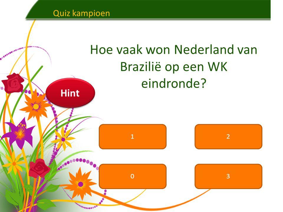 Hoe vaak won Nederland van Brazilië op een WK eindronde
