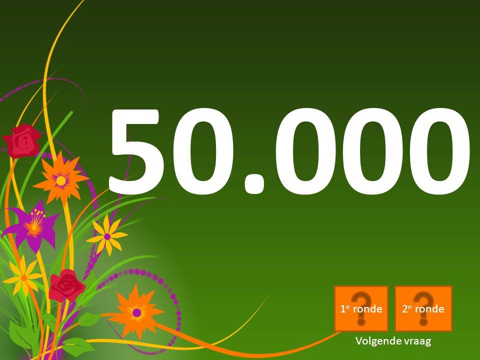 50.000 1e ronde 2e ronde Volgende vraag
