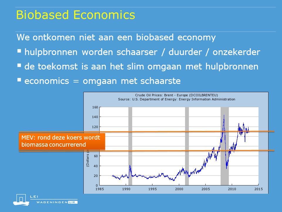 Biobased Economics We ontkomen niet aan een biobased economy