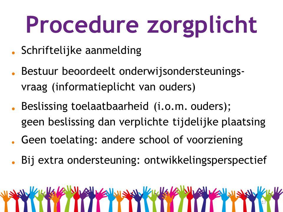 Procedure zorgplicht . Schriftelijke aanmelding