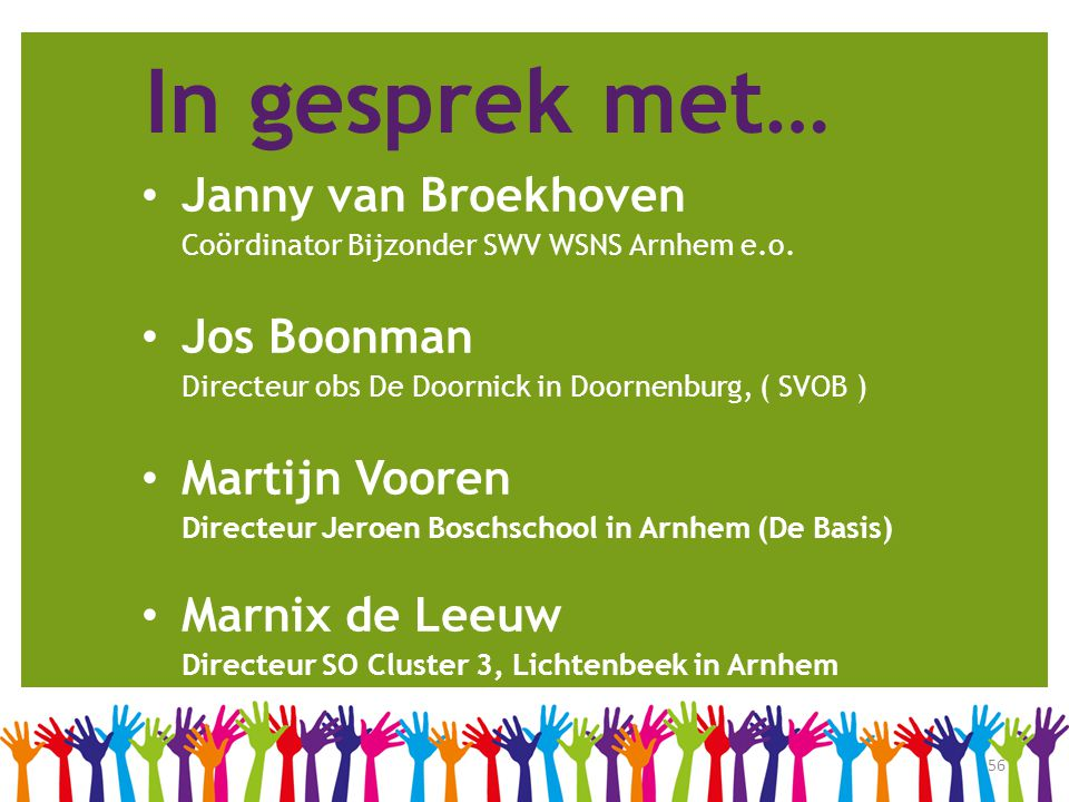 In gesprek met… Janny van Broekhoven Jos Boonman Martijn Vooren