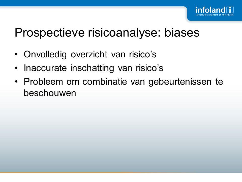 Prospectieve risicoanalyse: biases
