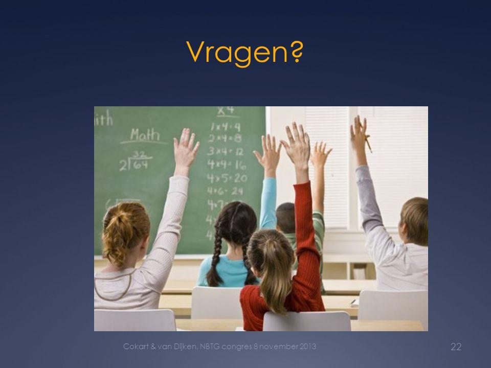 Vragen Cokart & van Dijken, NBTG congres 8 november 2013