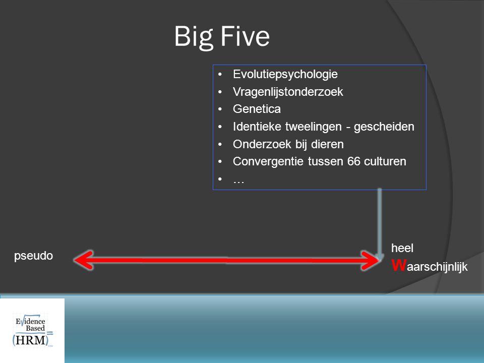 Big Five Waarschijnlijk Evolutiepsychologie Vragenlijstonderzoek