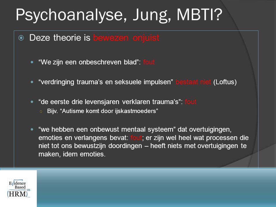 Psychoanalyse, Jung, MBTI