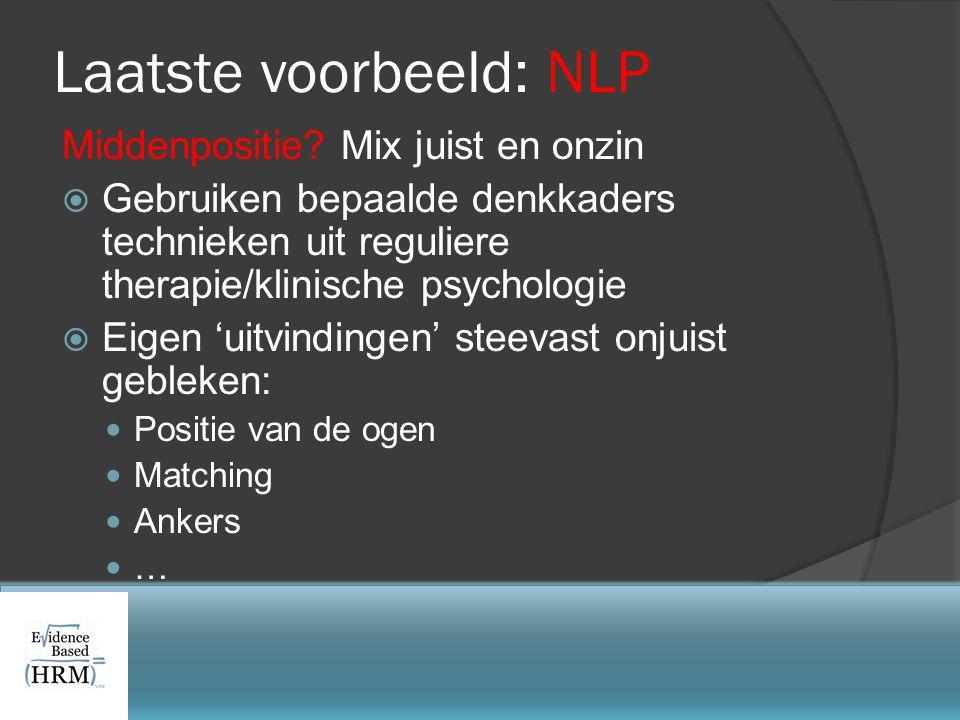 Laatste voorbeeld: NLP