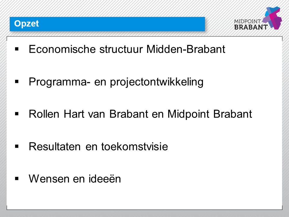 Economische structuur Midden-Brabant Programma- en projectontwikkeling
