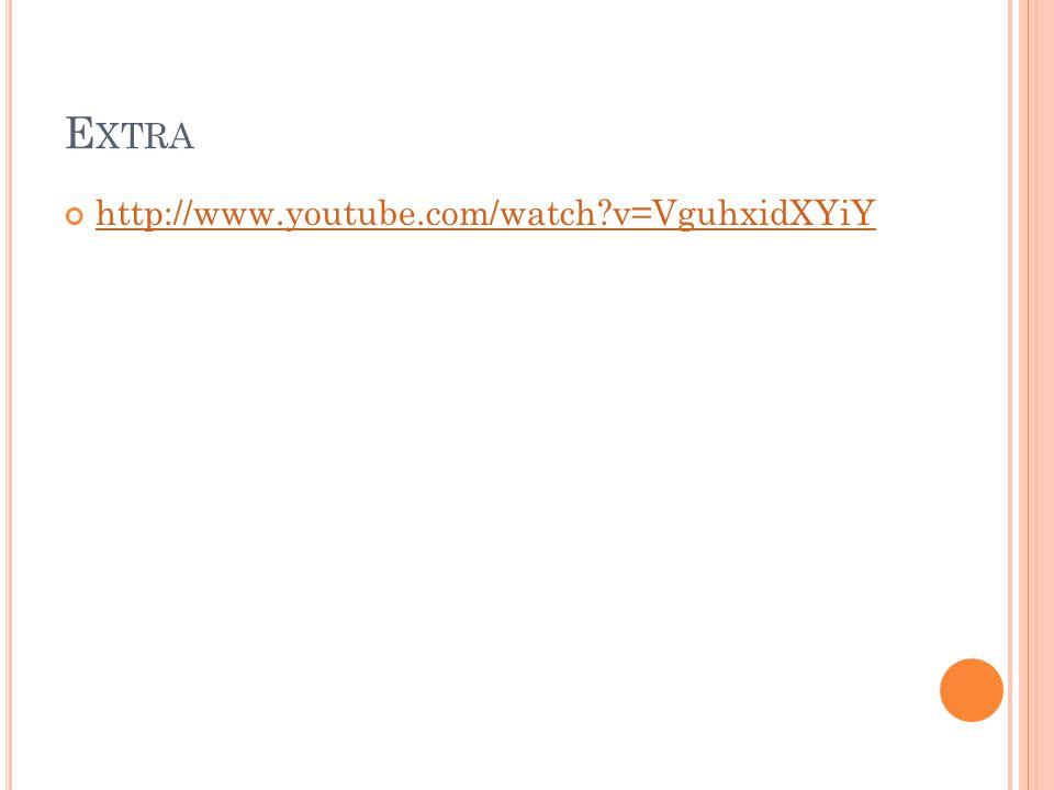 Extra http://www.youtube.com/watch v=VguhxidXYiY