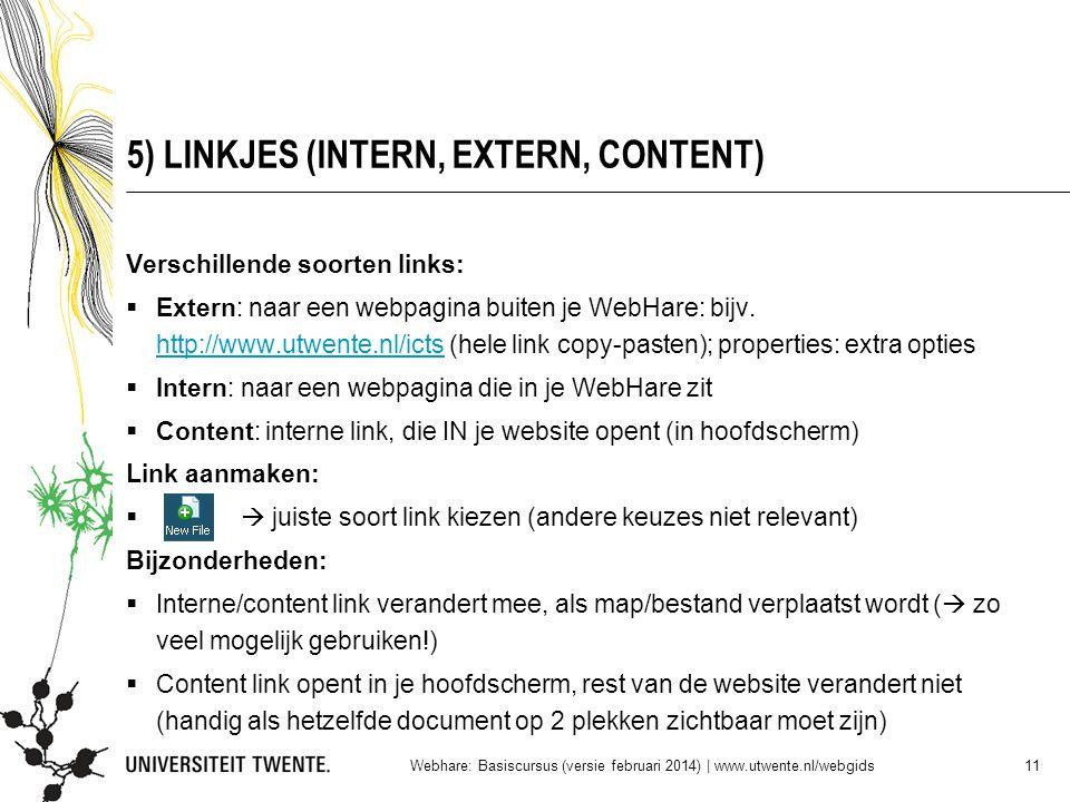 5) LINKJES (INTERN, EXTERN, CONTENT)