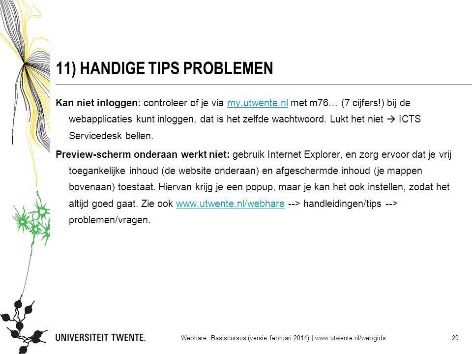 11) HANDIGE TIPS PROBLEMEN