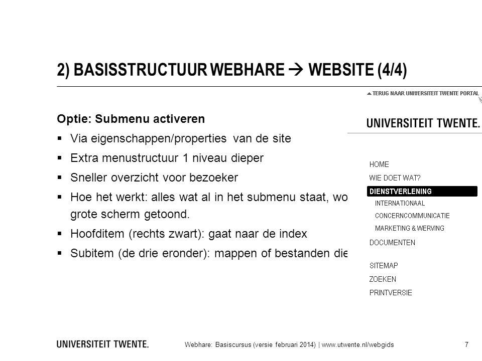 2) BASISSTRUCTUUR WEBHARE  WEBSITE (4/4)