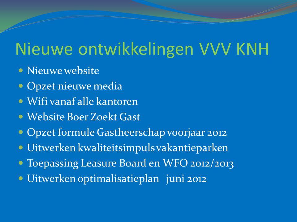 Nieuwe ontwikkelingen VVV KNH