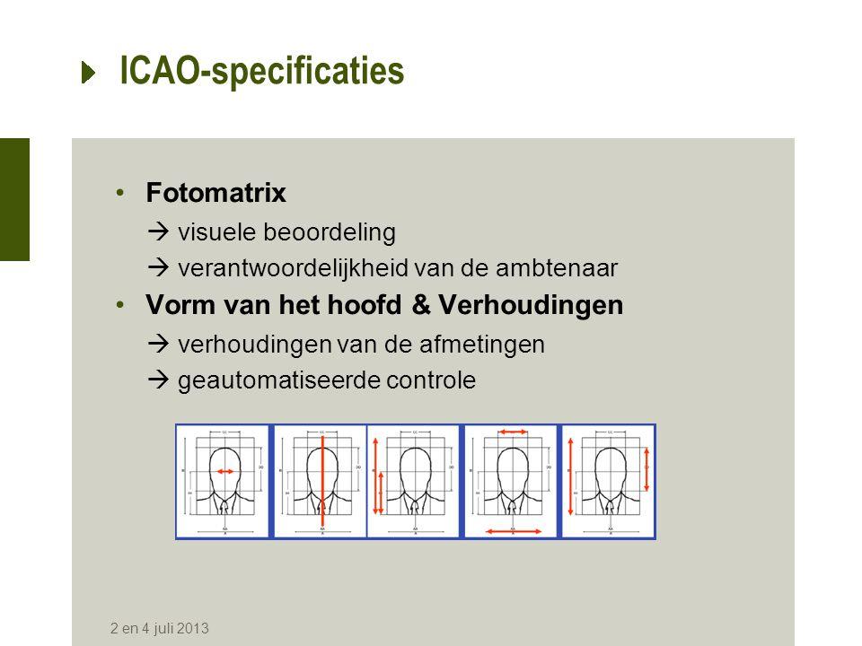 ICAO-specificaties Fotomatrix Vorm van het hoofd & Verhoudingen