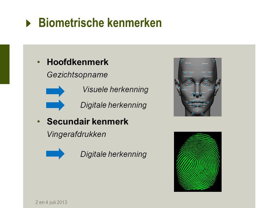 Biometrische kenmerken