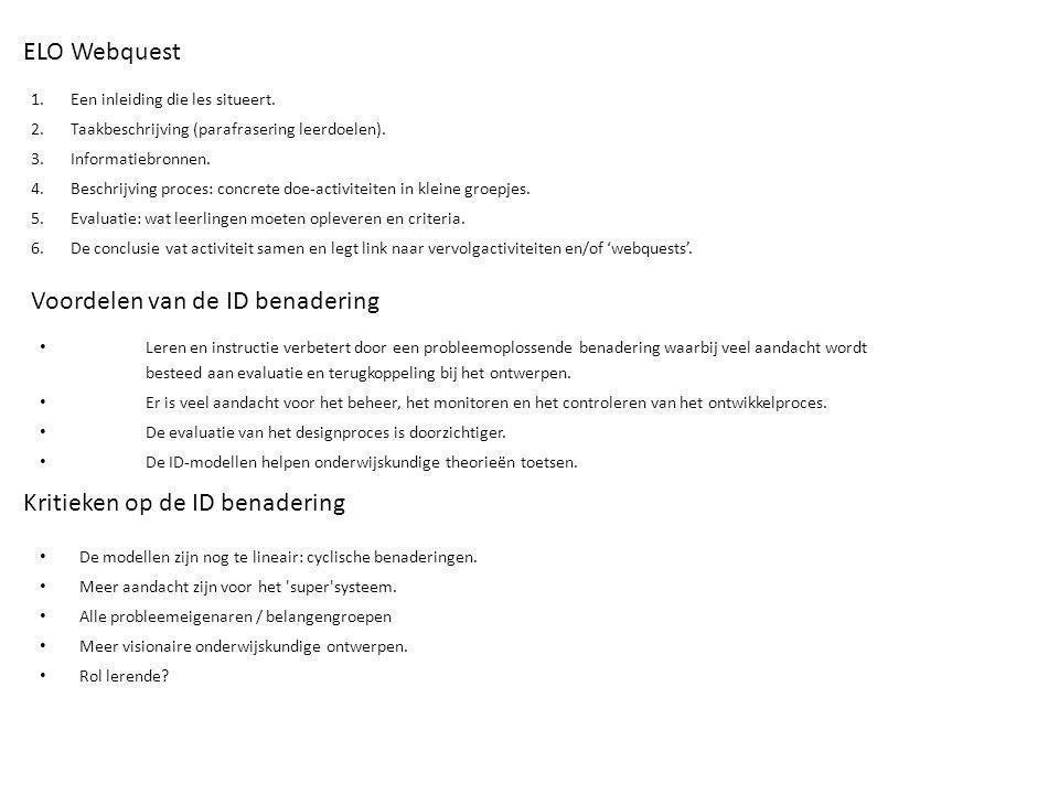 Voordelen van de ID benadering