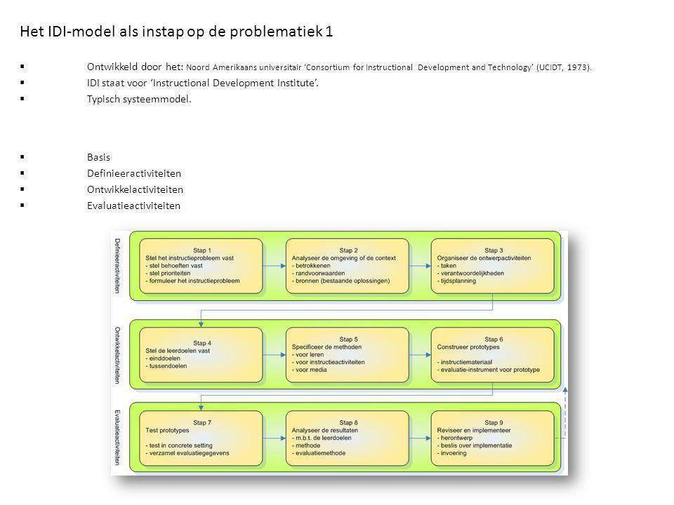 Het IDI-model als instap op de problematiek 1