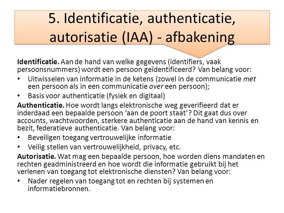 5. Identificatie, authenticatie, autorisatie (IAA) - afbakening