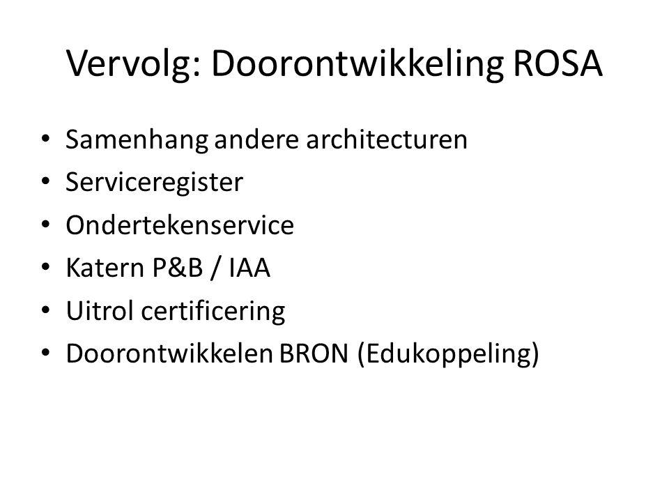Vervolg: Doorontwikkeling ROSA