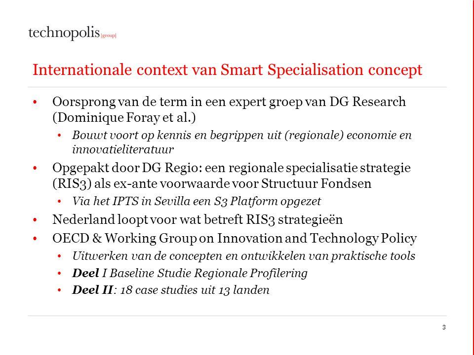Internationale context van Smart Specialisation concept