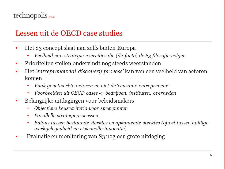 Lessen uit de OECD case studies