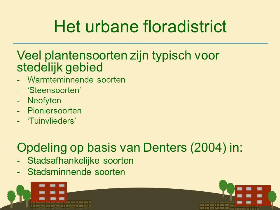 Het urbane floradistrict