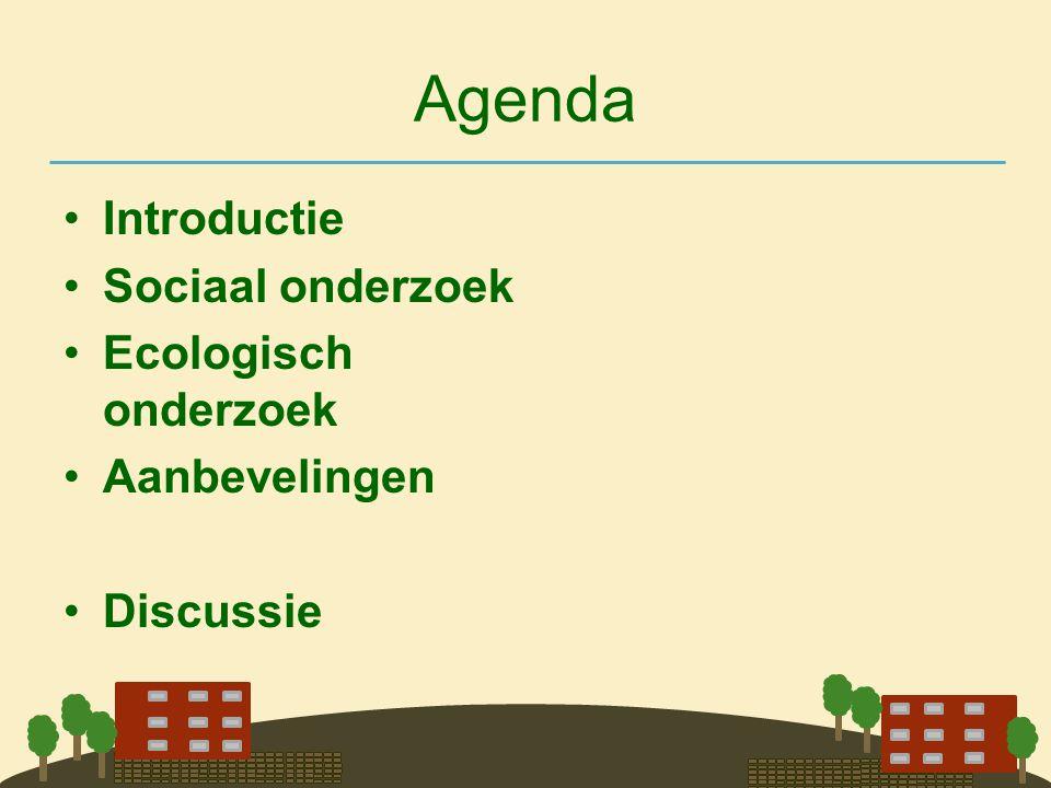Agenda Introductie Sociaal onderzoek Ecologisch onderzoek