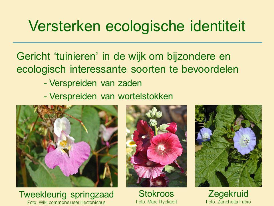 Versterken ecologische identiteit