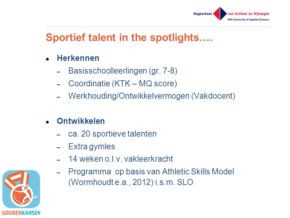 Sportief talent in the spotlights….